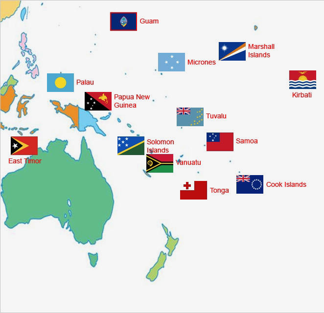 Oceania Islands Map